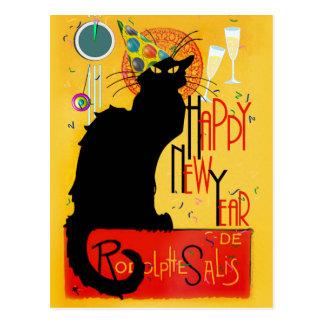 Postal Feliz Año Nuevo Noir de la charla