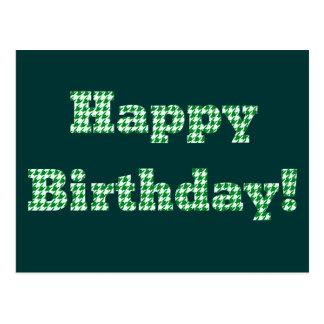 Postal Feliz cumpleaños de Houndstooth