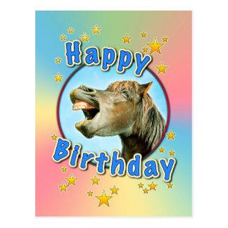 Postal Feliz cumpleaños del caballo de risa