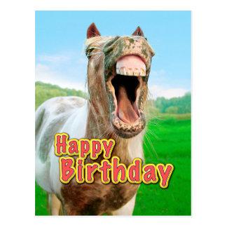 Postal Feliz cumpleaños del caballo feliz
