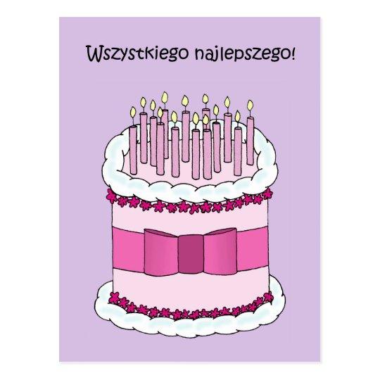 Feliz cumpleanos idioma polaco