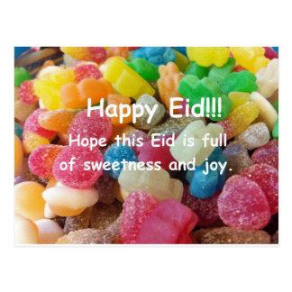 Postal feliz de los dulces de Eid