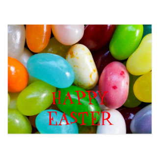 Postal feliz de Pascua de la haba de jalea