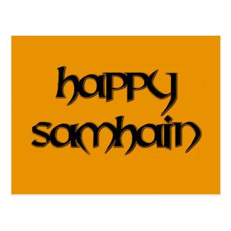 Postal feliz de Samhain