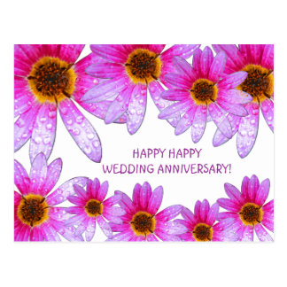 Postal feliz del aniversario de boda de la margari