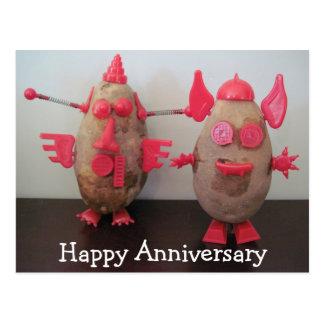 Postal feliz del aniversario de las patatas del