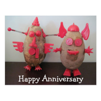 Postal feliz del aniversario de las patatas del es