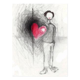 Postal feliz del corazón