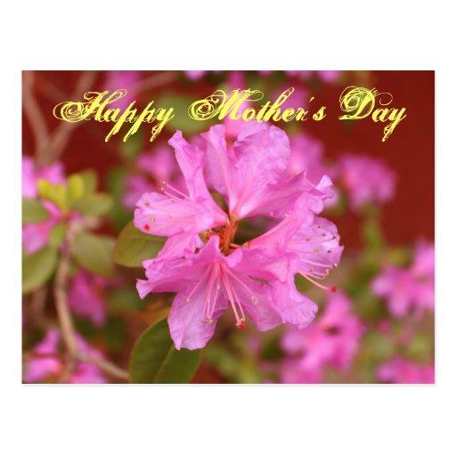 Postal feliz del día de madre de la flor hermosa