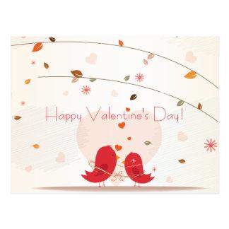 Postal feliz del día de San Valentín de dos