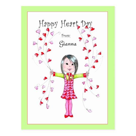 Postal feliz del día del corazón