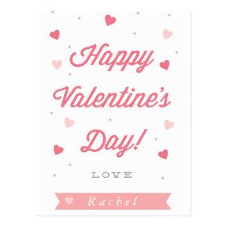Postal feliz del el día de San Valentín de los