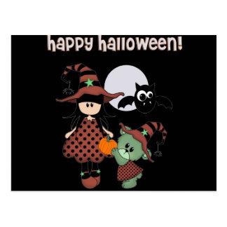 Postal Feliz Halloween de encargo