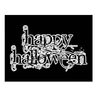 Postal Feliz Halloween del Grunge de Swirly