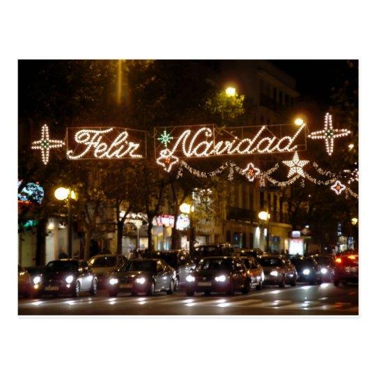 Postal Feliz Navidad. Calle Princesa, Madrid