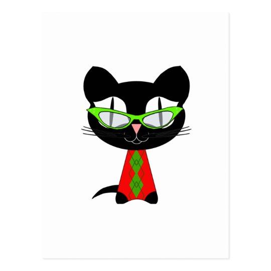 Postal Feliz Navidad de un gatito fresco