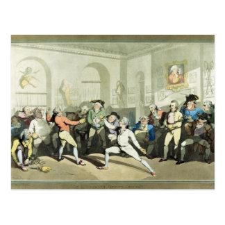 Postal Fencing Academy de Sr. H Ángel, grabada por