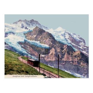 Postal ferrocarril 1900 de la montaña del Ca Jungfrau