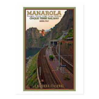Postal Ferrocarril de Cinque Terre - Manarola