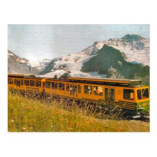 Postal Ferrocarril de la montaña, región de Jungfrau
