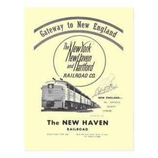 Postal Ferrocarril-Entrada de New Haven a Nueva