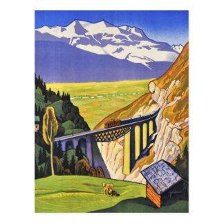 Postal - ferrocarril Suiza de Loetschberg