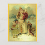 Postal Festiva St. 1897 del vintage de Santa Nick