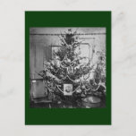 Postal Festiva Vintage de los 1800s del Victorian del árbol de