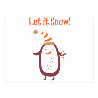 Postal Festivo déjelo nevar