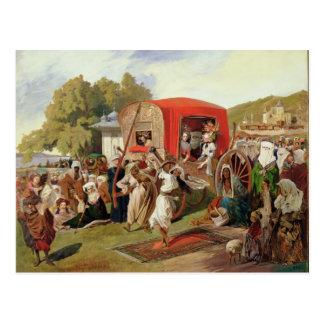 Postal Fete al aire libre en Turquía, c.1830-60