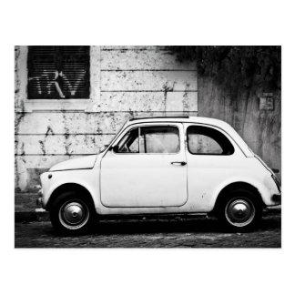 Postal Fiat 500 en Roma, Italia