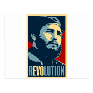 Postal Fidel Castro - presidente cubano de la revolución