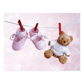 Postal Fiesta de bienvenida al bebé para el chica