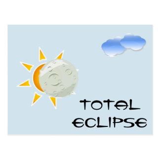 Postal Fiesta de la visión del eclipse total