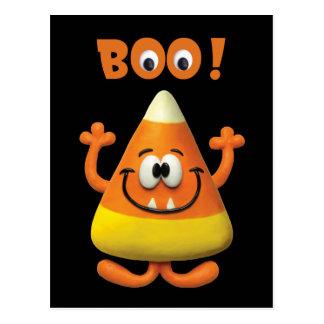 Postal Fiesta del abucheo de Halloween de las pastillas