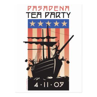 Postal Fiesta del té de Pasadena