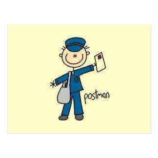 Postal Figura del palillo del empleado de correos
