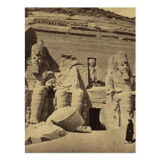 Postal Figuras colosales, el gran templo en Abu Sunbul