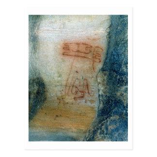 Postal Figuras simbólicas (pintura de cuevas)