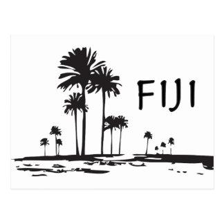 Postal Fiji - palmeras gráficas