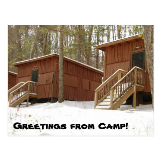 Postal ¡Fila de la cabina en invierno!