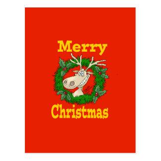 Postal Filón del reno del navidad
