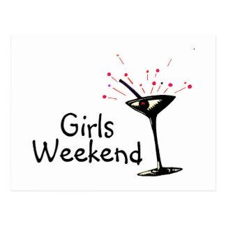 Postal Fin de semana de los chicas