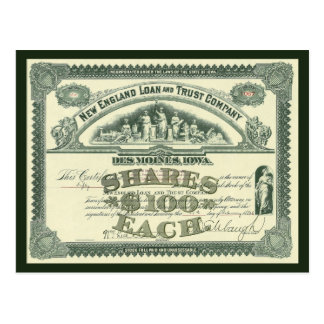 Postal Finanzas del negocio del certificado del capital