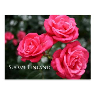 Postal Finlandia en las flores, 3ro en una serie