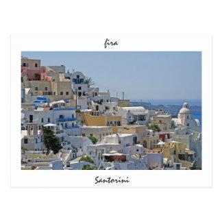 Postal Fira, Santorini, Grecia