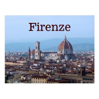 Postal Firenze Florencia Italia