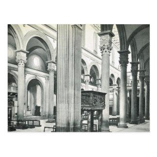 Postal Firenze, Florencia, S. interior Lorenzo