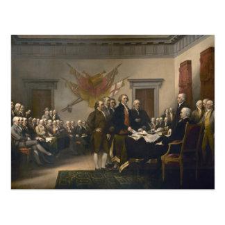 Postal Firma de la Declaración de Independencia