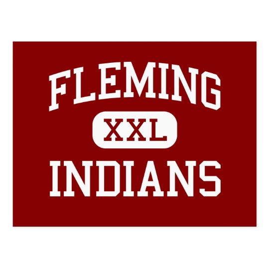 Postal Fleming - indios - centro - paso Oregon de las